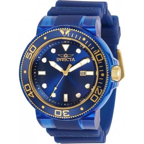 Invicta Men's 32336 'Pro Diver' Blue Silicone Watch
