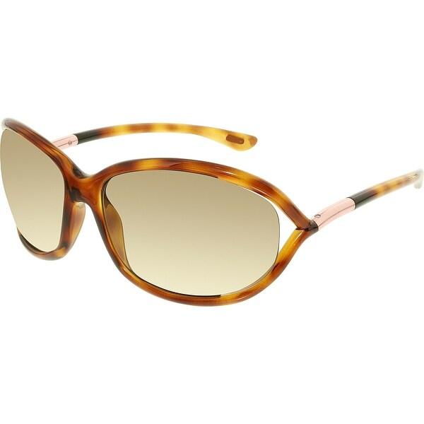 edb89c146ad Shop Tom Ford Women s Jennifer Rectangle Sunglasses FT0008-52F-61 ...