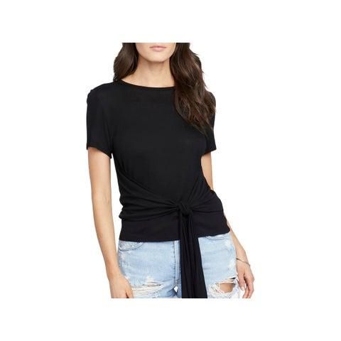 Rachel Rachel Roy Womens T-Shirt Knot-Front Short Sleeves