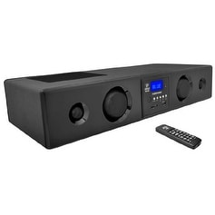 Pyle Audio PYRPSBV200BTb Pyle PSBV200BT 300 Watt Bluetooth Soundbar with USB/SD/FM Radio and Wireles