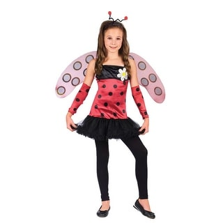 Lovely Lady Bug Ballerina Girl Kids Halloween Costume - large (size 12-14)