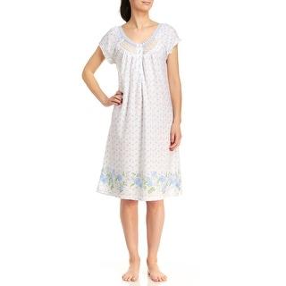 Body Touch Women's Tulip Border Print Nightgown