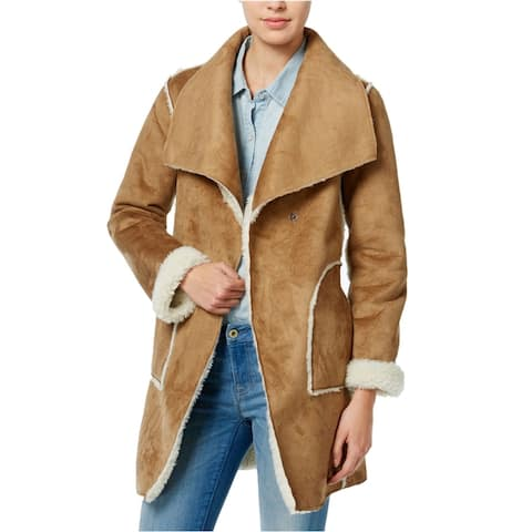 Wildflower Womens Faux-Shearling Fleece Jacket