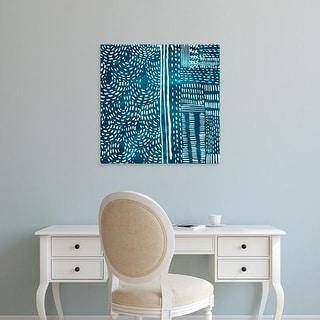 Easy Art Prints Chariklia Zarris's 'Sashiko Stitches II' Premium Canvas Art