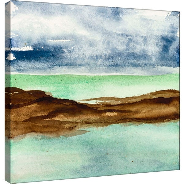 "PTM Images 9-100973 PTM Canvas Collection 12"" x 12"" - ""Shore I"" Giclee Coastlines Art Print on Canvas"