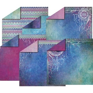 """Hot Off The Press Double-Sided Paper Pack 12""""X12"""" 12/Pkg-Twilight Jewels"""