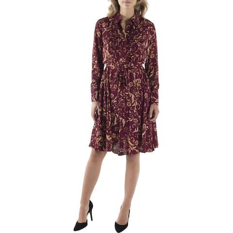 Nanette Nanette Lepore Womens Wear to Work Dress Floral Print Pintuck
