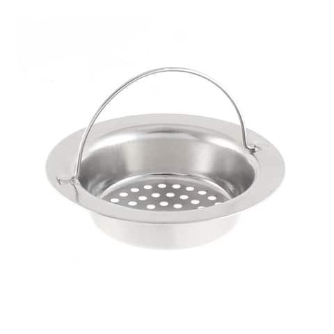 Bathroom Kitchen Sink Basin Garbage Stopper Filter Strainer w Handle - Silver