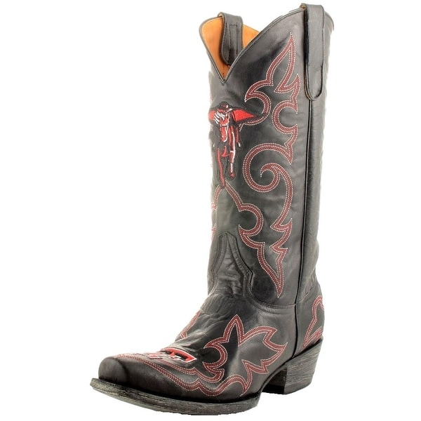 Gameday Boots Mens College Texas Tech Masked Rider Black
