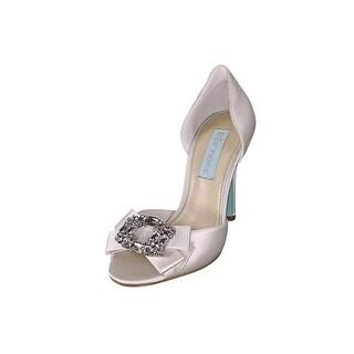 Betsey Johnson Glam Open Toe Canvas Sandals
