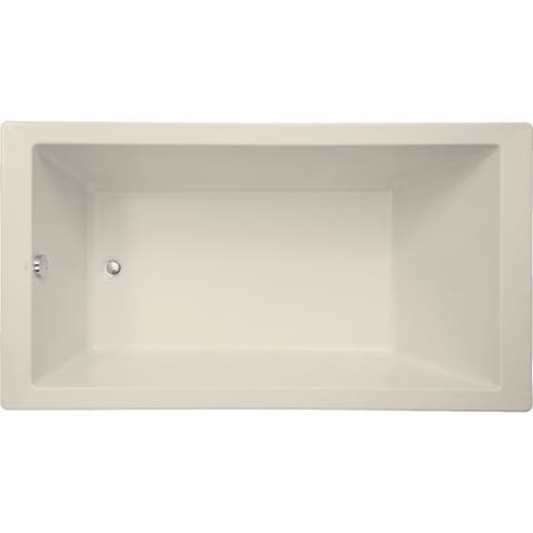 """Mirabelle MIRSKS6636 Sitka 66"""" X 36"""" Acrylic Soaking Bathtub for Drop In or Undermount Installations with Reversible Drain"""