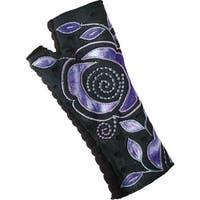 Women's Folk Art Fingerless Walking Gloves - One size