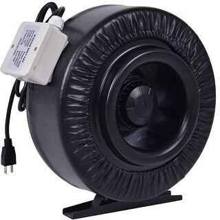 Costway 8'' Inline Duct Fan Hydroponics Exhaust Cooling Fan Blower Strong CFM - Black