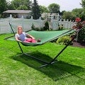 Sunnydaze Large 2-Person Rope Hammock with Spreader Bar & Hammock Stand - Thumbnail 32
