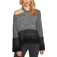 1.State Womens Pullover Sweater Knit Cold Shoulder