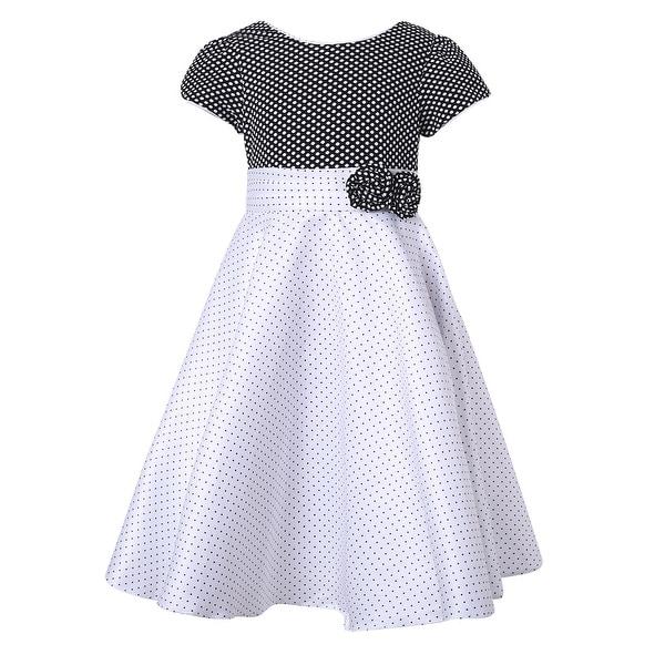 d867100e1e2 Shop Richie House Girls  Short Sleeve Elegant Dress - On Sale - Free ...