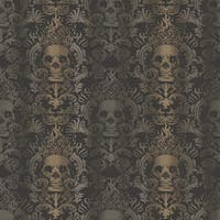Brewster TOT47111 Luther Sand Skull Modern Damask Wallpaper - sand skull damask - N/A