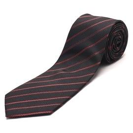 Luciano Barbera Men's Slim Silk Neck Tie Navy Red