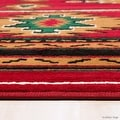 "Allstar Red Woven High Quality Rug. Traditional. Persian. Flower. Western. Design Area Rug (3' 9"" x 5' 1"") - Thumbnail 5"
