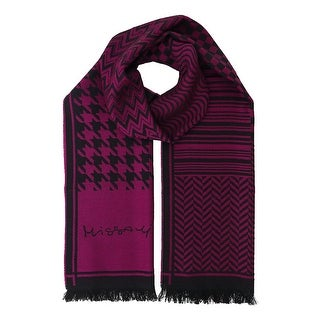 Missoni SC12WOU5857 0004 Purple/Black 100% Wool Scarf