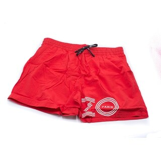 Kenzo Mens Red Bathing Suit Swim Shorts Size U.S. Large EU X-large - M