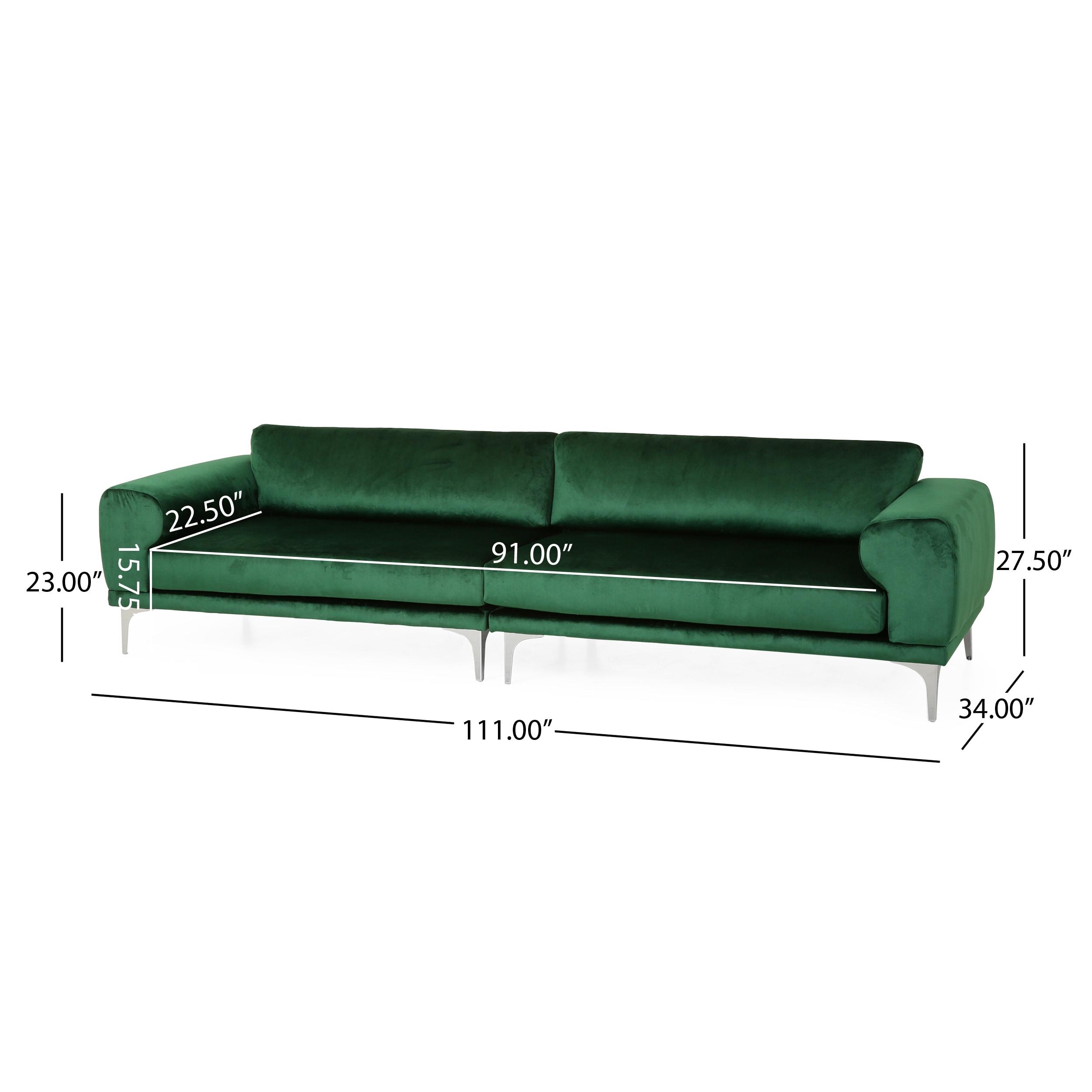 Croydon Modern Glam 4 Seater Velvet Sofa By Christopher Knight Home On Sale Overstock 31672759