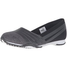 PUMA Women's Asha Alt 2 Jersey Wn's Sandal, Dark Shadow-Black, 6 M US