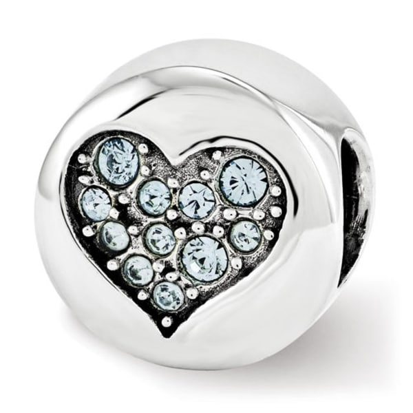 Sterling Silver Reflections Swarovski Elements Mar-Courage Bead (4mm Diameter Hole)