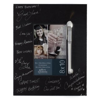 Gallery Solutions Black Signature Mat with Pen, 8 by 10-Inch