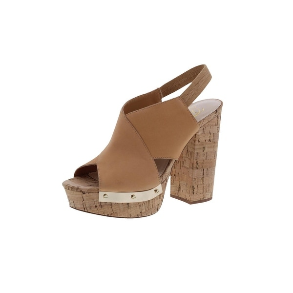 Fergie Womens Lunar Platform Sandals Open Toe Cork