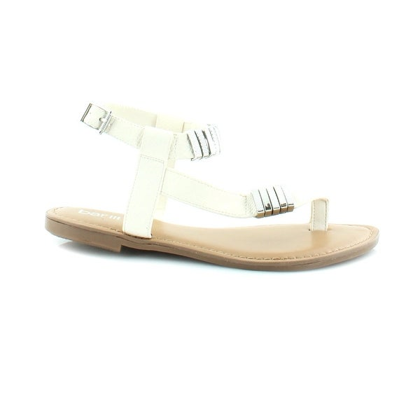 Bar III Verna Women's Sandals & Flip Flops White - 6.5