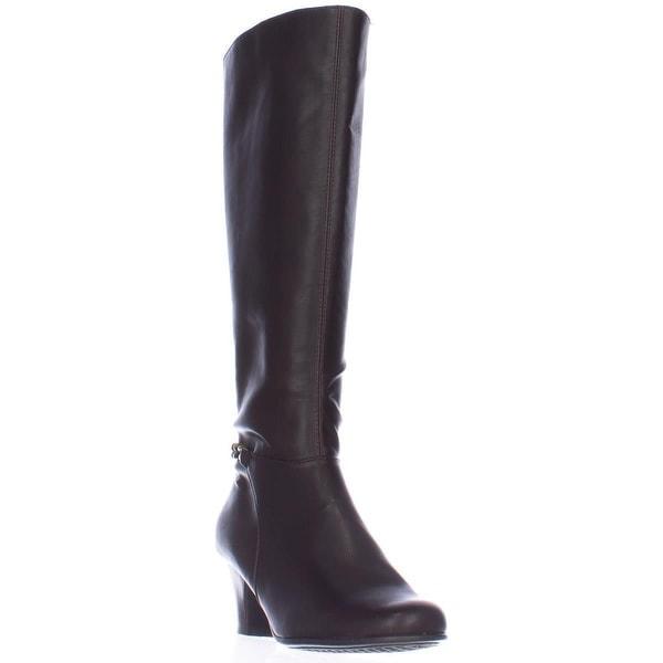 Aerosoles Margarita Chain Harness Knee High Boots, Brown