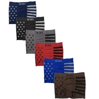 Men's 6 Pack American Flag Print Seamless Boxer Briefs