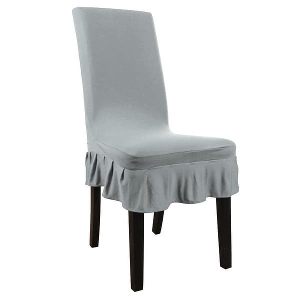 Shop Stretch Spandex Short Dining Room Chair Covers - Free ...