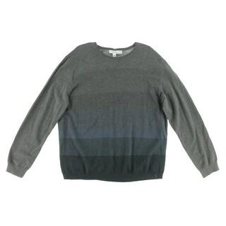 Calvin Klein Mens Modal Blend Colorblock Pullover Sweater - S