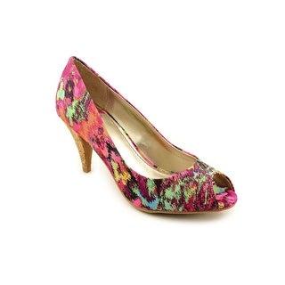 Fergalicious Sariah Women Peep-Toe Canvas Heels
