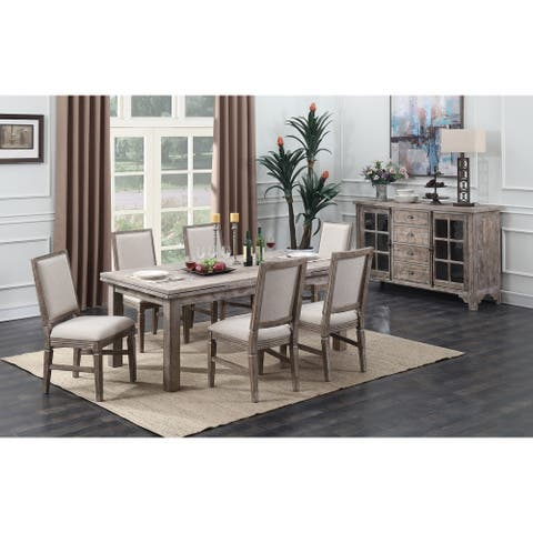 The Gray Barn Iris Rise 7-piece Rustic Casual Dining Room Set