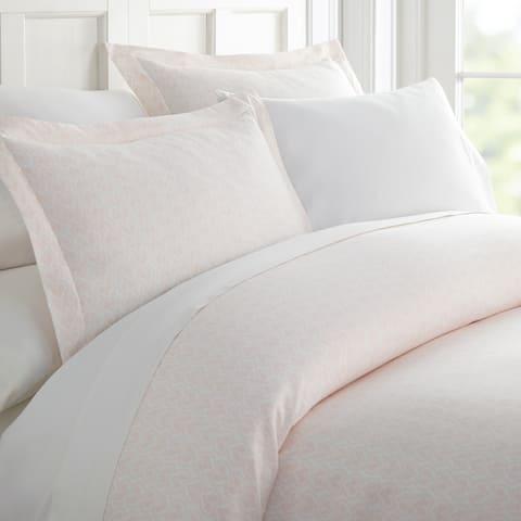 Merit Linens Premium Ultra Soft Classic in Pink Pattern 3 Piece Duvet Cover Set