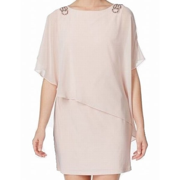 2410219e Shop X by Xscape Pink Womens Size 4 Embellished Capelet Sheath Dress - Free  Shipping On Orders Over $45 - Overstock - 21693569