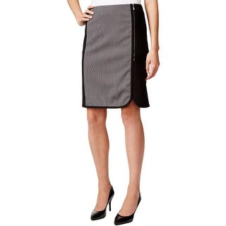 Laundry by Shelli Segal Womens Pencil Skirt Contrast-Panel Colorblock
