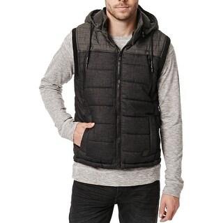 Buffalo David Bitton NEW Gray Mens Large L Felix Full-Zip Puffer Vest