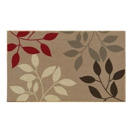 "J & M Home Fashions 4291 Natural Ferns Coir Floor Mat, 18 "" x 30 """