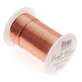 Beadsmith Tarnish Resistant Bright Copper Wire 20 Gauge 15 Yards (13.5 Meters)