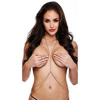 Double Tier Body Chain, Gold Body Chain - as shown - One Size Fits most