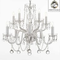 Swarovski Elements Crystal Trimmed Chandelier Lighting All Crystal Chandelier Lighting