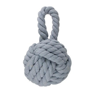 3.5 (90mm) Powder Blue Fishermans Rope Knotted Christmas Ball Ornament