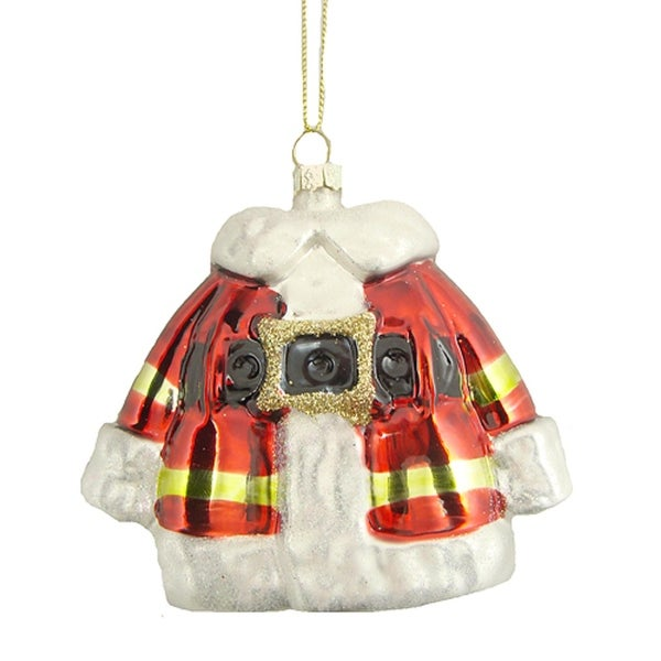 Christmas Brites Traditional Santa Claus Coat Glass Ornament - RED