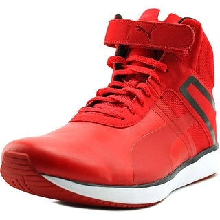 Puma F116 Skin Mid SF Men  Round Toe Synthetic Red Basketball Shoe
