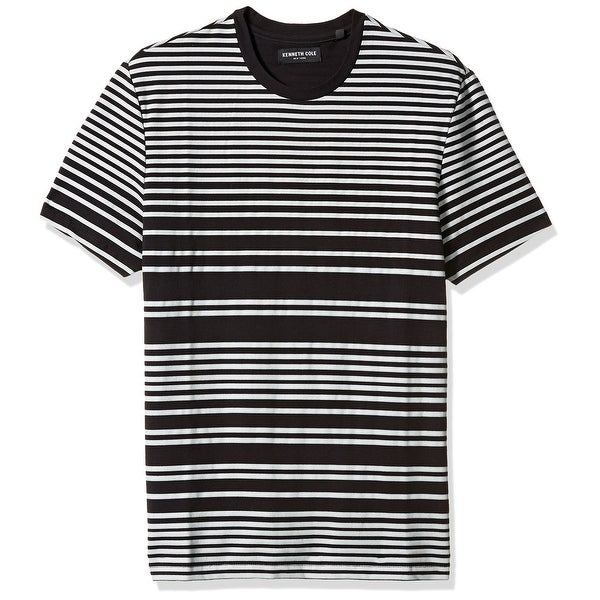 92854f7e Shop Kenneth Cole NEW Black Mens Size Large L Crewneck Striped Tee T-Shirt  - Free Shipping On Orders Over $45 - Overstock.com - 21934835