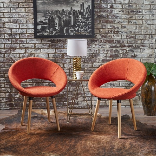 Keegan Modern Fabric Dining Chair (Set of 2) by Christopher Knight Home. Opens flyout.
